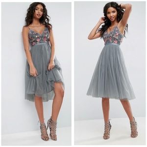 NEEDLE & THREAD Whisper Embroidered Tulle Dress